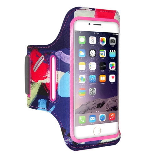 FLOVEME Printed Universal Smart Touch Telephone Armband Case, For iPhone 8 Plus & 7 Plus & 6s Plus & 6 Plus(Pink) floveme retro genuine leather wallet pouch for iphone 6s plus 6 plus etc coffee