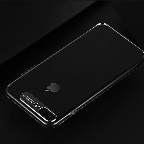 TOTUDESIGN Clear Crystal Series TPU Transparent Soft Case for iPhone 8 Plus & 7 Plus (Black) fdj high clear handheld reading 8x magnifier black transparent