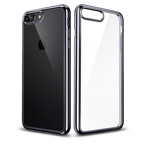 ESR Essential Twinkler Series Ultra-thin Transparent Soft TPU Case for iPhone 8 Plus / 7 Plus(Black)