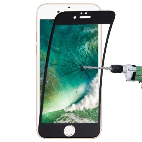 0.1mm 9H Full Screen Flexible Fiber Tempered Glass Film for iPhone 8 Plus & 7 Plus(Black)
