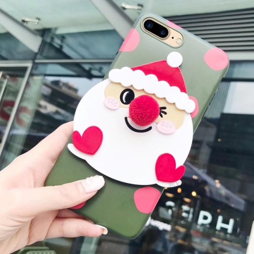 Buy For iPhone 8 Plus & 7 Plus Christmas Series Santa Claus Pattern Protective Back Cover Case for $4.46 in SUNSKY store