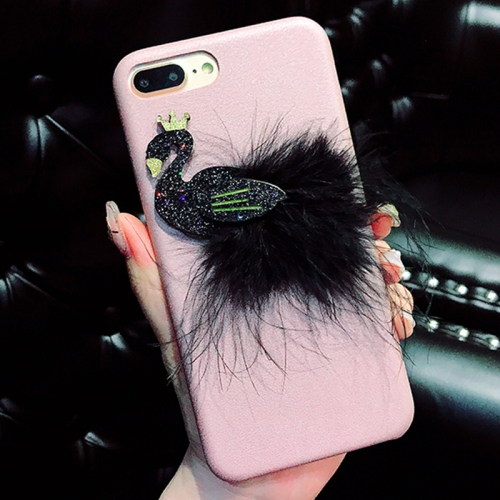 Buy For iPhone 8 Plus & 7 Plus Creative Cute 3D Feather Swan Pattern Protective Back Cover Case, Pink for $4.46 in SUNSKY store