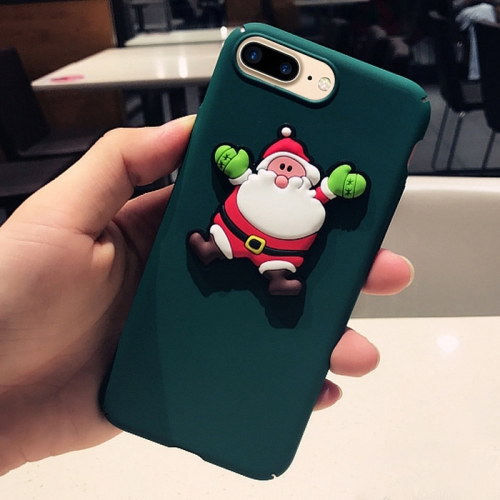 Buy For iPhone 8 Plus & 7 Plus Christmas Series Cartoon Santa Claus Pattern Full Coverage Protective Back Cover Case for $3.70 in SUNSKY store