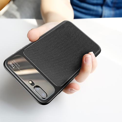 Baseus for iPhone 8 Plus & 7 Plus TPU Hombic Texture Protective Back Cover Case (Black) baseus genya leather case for iphone 7 plus black