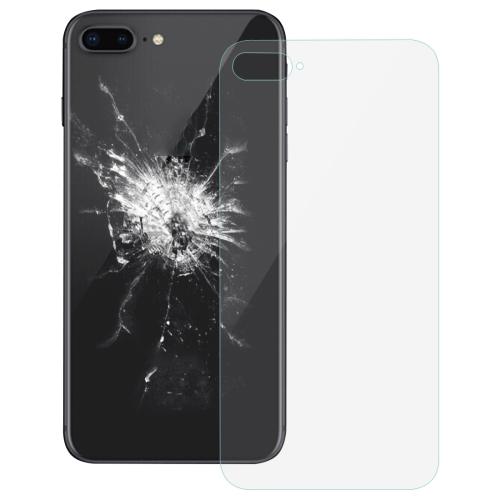 Glass Battery Back Cover for iPhone 8 Plus (Transparent)