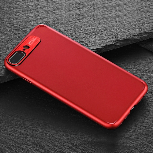 Buy TOTUDESIGN for iPhone 8 Plus & 7 Plus PC + Metal Dropproof Protective Back Cover Case, Red for $4.46 in SUNSKY store