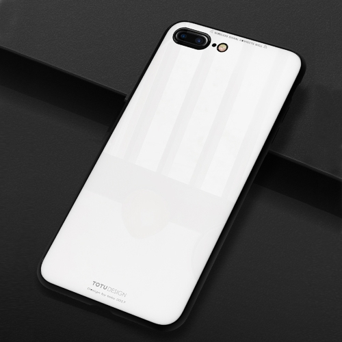 Buy TOTUDESIGN for iPhone 8 Plus & 7 Plus TPU + PC + Glass Dropproof Protective Back Cover Case, White for $4.46 in SUNSKY store