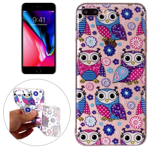 Buy For iPhone 8 Plus & 7 Plus Flower Owls Pattern Embossment TPU Protective Back Cover Case for $1.54 in SUNSKY store