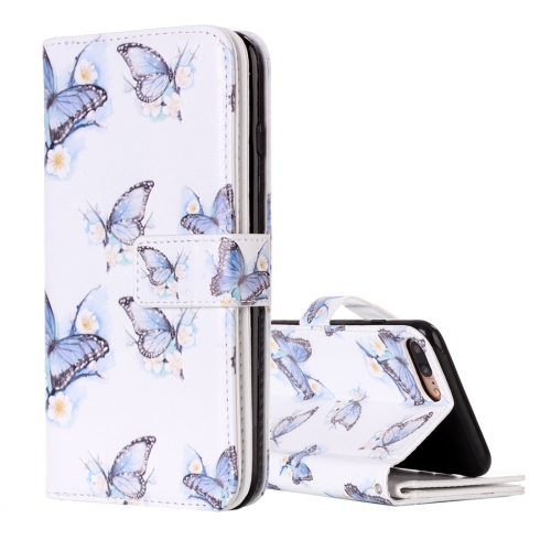 Buy For iPhone 8 Plus & 7 Plus Flowers Butterfly Pattern Horizontal Flip Leather Case with Holder & Card Slots & Wallet & Photo Frame for $4.19 in SUNSKY store