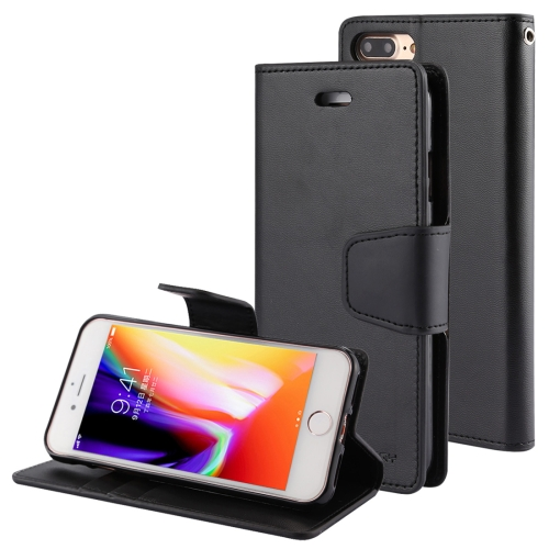 Buy MERCURY GOOSPERY SONATA DIARY for iPhone 8 Plus & 7 Plus Business Style Magnetic Clasp Horizontal Flip Leather Case with Holder & Card Slots & Wallet, Black for $4.71 in SUNSKY store