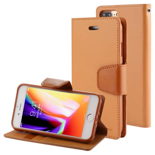 Buy MERCURY GOOSPERY SONATA DIARY for iPhone 8 Plus & 7 Plus Business Style Magnetic Clasp Horizontal Flip Leather Case with Holder & Card Slots & Wallet, Coffee for $4.71 in SUNSKY store