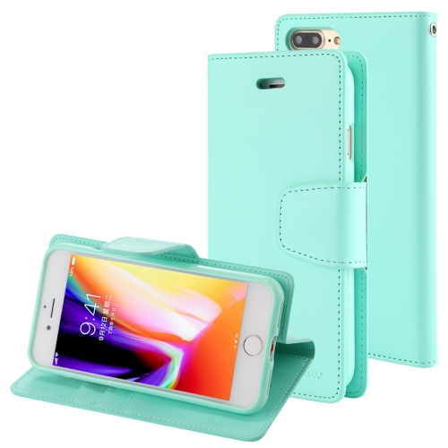 Buy MERCURY GOOSPERY SONATA DIARY for iPhone 8 Plus & 7 Plus Business Style Magnetic Clasp Horizontal Flip Leather Case with Holder & Card Slots & Wallet, Green for $4.71 in SUNSKY store