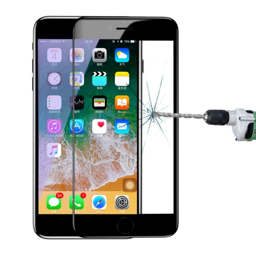 Baseus for iPhone 8 Plus & 7 Plus 0.3mm 9H Hardness Full Screen Anti Blue-ray Arc Edge Tempered Glass Protector(Black) baseus little devil case for iphone 7 plus black