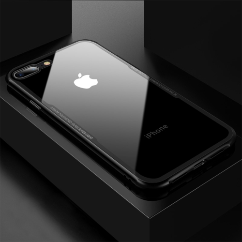CAFELE for iPhone 8 Plus & 7 Plus TPU + Tempered Glass Shockproof Protective Back Cover Case(Black) original bluboo xfire 2 tpu back case tempered glass film