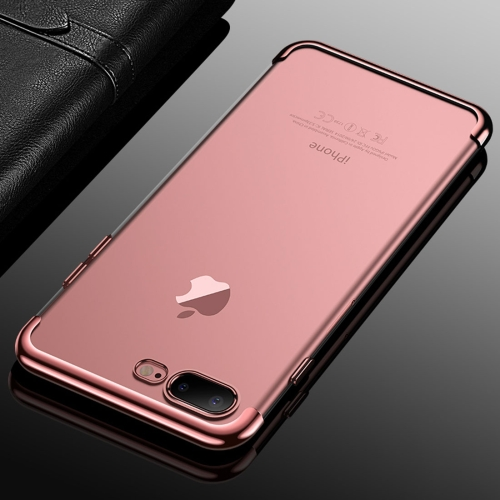 Buy CAFELE For iPhone 8 Plus & 7 Plus Color Electroplating TPU Soft Protective Back Cover Case (Rose Gold) for $3.28 in SUNSKY store