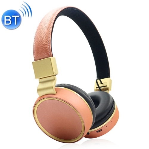 V684 Wireless Bluetooth 4.2 Headphone with Mic & FM & TF Card & EQ Model, For iPhone, iPad, iPod, Samsung, HTC, Sony, Huawei, Xiaomi and other Audio Devices(Rose Gold)