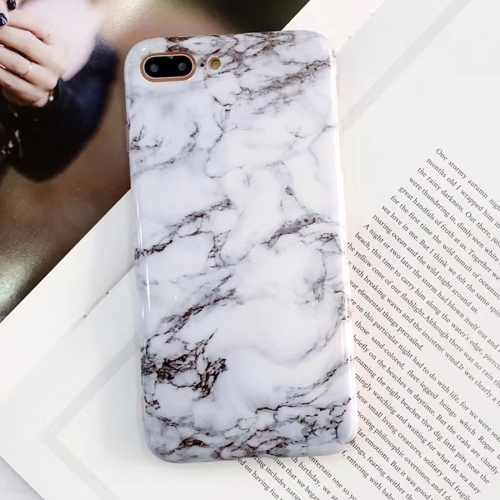 Buy For iPhone 8 Plus & 7 Plus Ink Marble Pattern TPU Full Coverage Shockproof Protective Back Cover Case for $2.29 in SUNSKY store