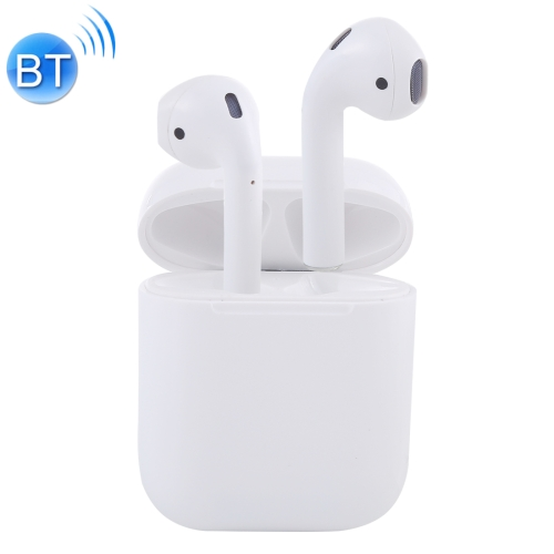 i12-XS TWS Binaural Calls Wireless Bluetooth Earphones with Charging Case, Support Touch Calling 5.0(White)