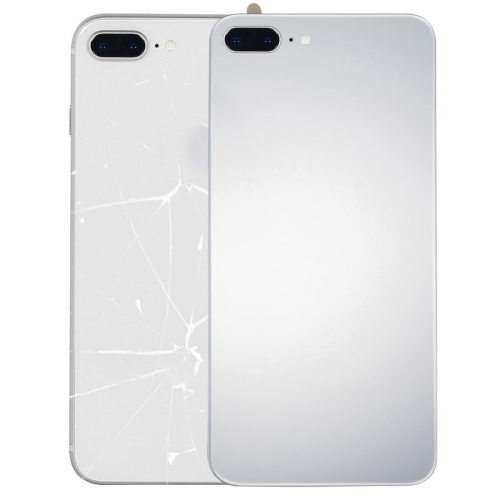 Glass Mirror Surface Battery Back Cover for iPhone 8 Plus (Silver)