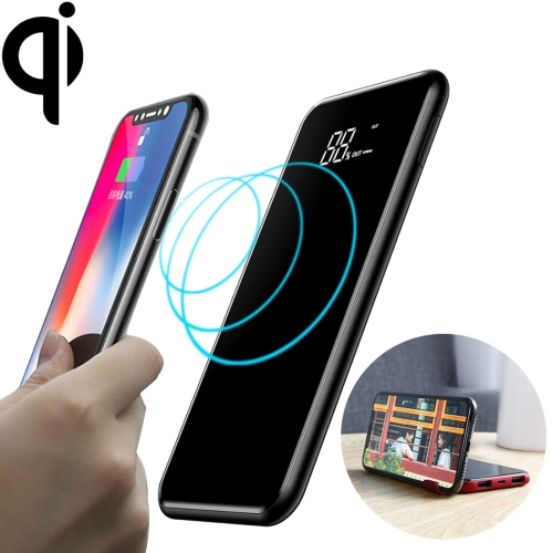 Baseus PPALL-EX01 Portable Full Screen Wireless Charger with Holder, Support Fast Charging, For iPhone, Galaxy, Huawei, Xiaomi, LG, HTC and Other QI Standard Smart Phones(Black)