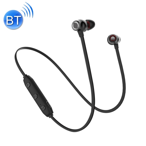 XRM-X5 Sports IPX4 Waterproof Magnetic Earbuds Wireless Bluetooth V4.1 Stereo In-ear Headset, For iPhone, Samsung, Huawei, Xiaomi, HTC and Other Smartphones(Black) letike bluetooth headphones wireless sports earphones sweatproof headset magnetic aptx hifi 3d stereo with mic for iphone xiaomi