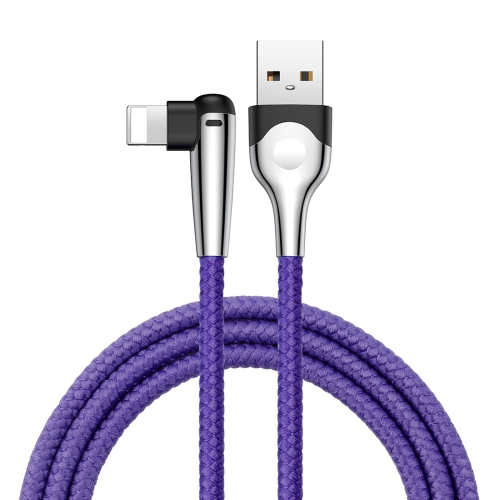 Baseus MVP 2m 1.5A Nylon Braided Mobile Game Cord Elbow Type USB A to 8 Pin Data Sync Charge Cable with Indicator Light For iPhone X / iPhone 8 & 8 Plus / iPhone 7 & 7 Plus / iPhone 6 & 6s & 6 Plus & 6s Plus / iPhone 5 & 5S & SE & 5C / iPad (Blue) baseus little devil case for iphone 7 plus black
