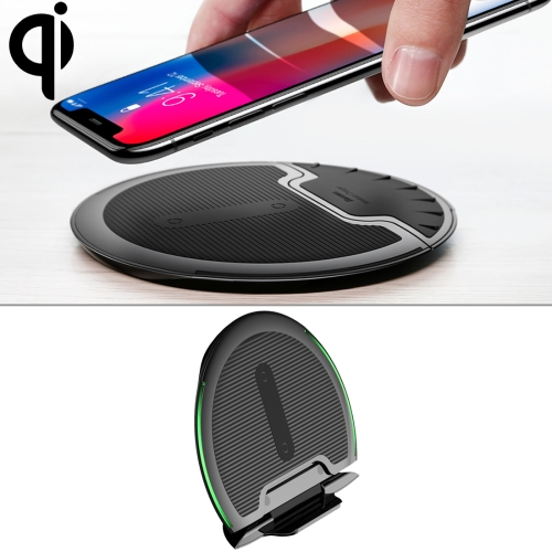 Baseus Desktop Foldable 10W Max 3-coil Vertical Horizontal Qi Wireless Charger Pad with 1m Micro USB Cable, For iPhone, Galaxy, Nokia, Sony, Google, MOTO and Other Smart Phones(Black) 65m b universal qi wireless charger receiver module w micro usb black
