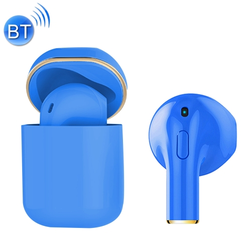 MINI-I8X Mini Noise Reduction Earbuds Sports Wireless Bluetooth V4.2 + EDR Headset with Charging Case, For iPhone, Galaxy, Huawei, Xiaomi, HTC and Other Smartphones (Blue)