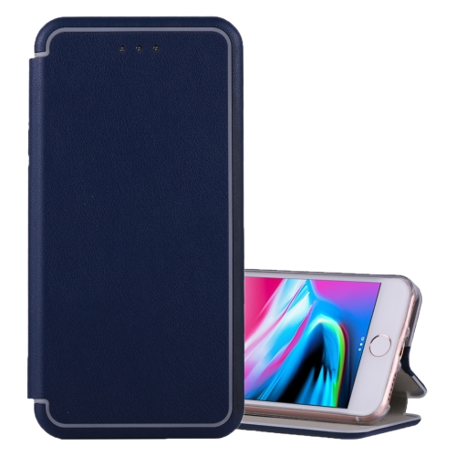 Buy For iPhone 6 Plus & 6s Plus & 7 Plus & 8 Plus Ultra-thin Magnetic Horizontal Flip Shockproof Protective Leather Case with Holder & Card Slot (Dark Blue) for $3.95 in SUNSKY store