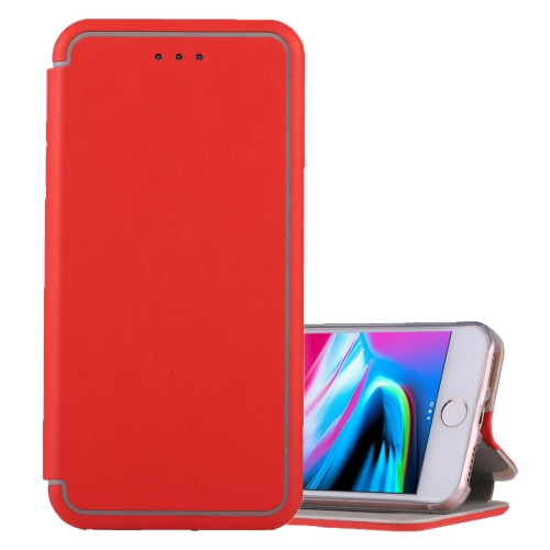 Buy For iPhone 6 Plus & 6s Plus & 7 Plus & 8 Plus Ultra-thin Magnetic Horizontal Flip Shockproof Protective Leather Case with Holder & Card Slot, Red for $3.95 in SUNSKY store