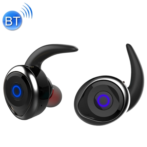 AWEI T1 Sports Headset IPX4 Waterproof Wireless Bluetooth V4.2 Stereo Earphone, Support TWS, For iPhone, Samsung, Huawei, Xiaomi, HTC and Other Smartphones (Black) mini twins bluetooth earphone airpods true tws wireless stereo headset earbuds with mic charge box for iphone samsung xiaomi