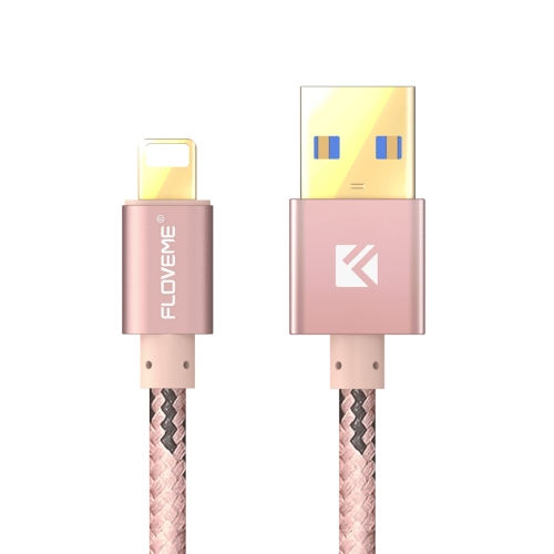 Buy FLOVEME 2.1A 1.2m Nylon Weave Style USB to 8 Pin Data Sync Charging Cable for $3.21 in SUNSKY store