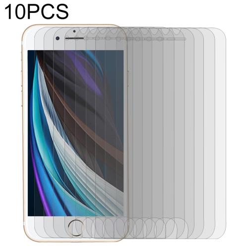 For iPhone SE 2020 10 PCS Large Arc EdgeTempered Glass Film