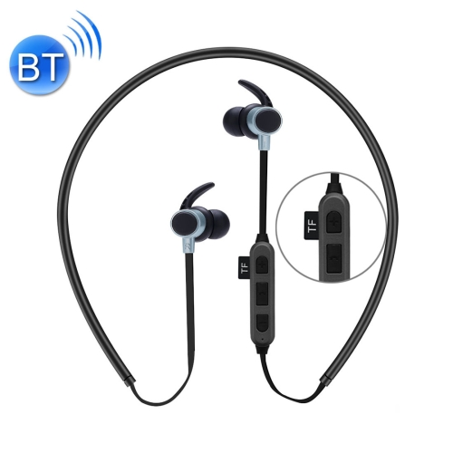 ST-K3 Wireless Magnetic Earbuds Bluetooth Sports Stereo MP3 Headphones with Mic & TF Card Slot, For iPhone, Galaxy, Huawei, Xiaomi, LG, HTC and Other Smart Phones(Black) letike bluetooth headphones wireless sports earphones sweatproof headset magnetic aptx hifi 3d stereo with mic for iphone xiaomi