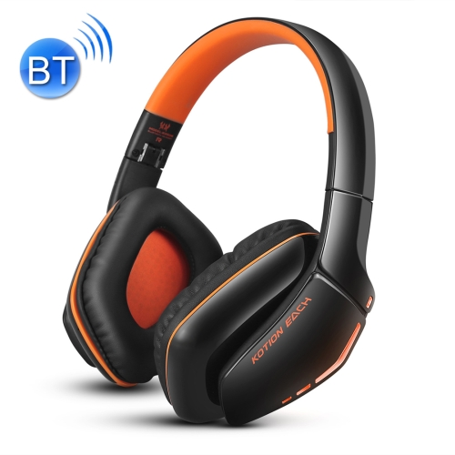 KOTION EACH B3506 Bluetooth V4.1 Foldable Gaming Headphone Headset with Mic, For PS4, PC, Mac, Smartphones, Computers(Black+Orange) hl good quality original wireless headset bluetooth headphone headband headset with fm tf led indicators for iphone cell phone