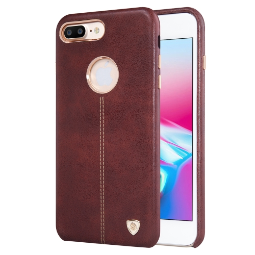 Buy NILLKIN Englon Case for iPhone 8 Plus Business Style Crazy Horse Leather Surface Protective Case, Brown for $6.49 in SUNSKY store