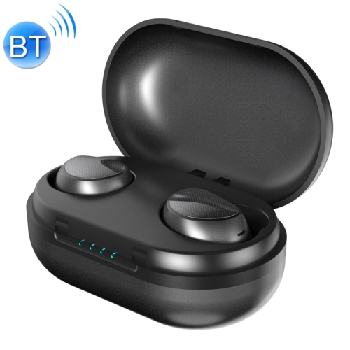 TWS-t10 Wireless Sports 5.0 Bluetooth Earphone with Power Bank(Black)