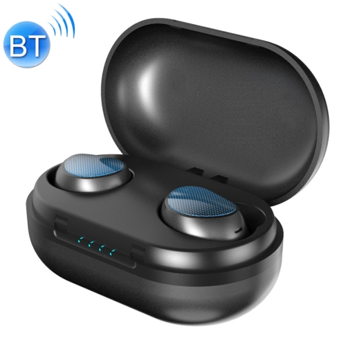 TWS-t10 Wireless Sports 5.0 Bluetooth Earphone with Power Bank(Blue)
