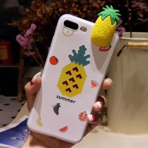 Buy For iPhone 8 Plus & 7 Plus Fashion Papa Fruit Pineapple Pattern Protective Back Cover Case for $1.54 in SUNSKY store