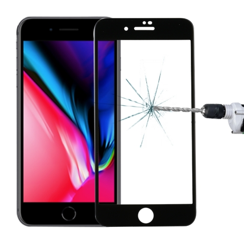 For iPhone 8 Plus & 7 Plus 0.3mm 9H Surface Hardness 5D Curved Full Screen Tempered Glass Screen Protector