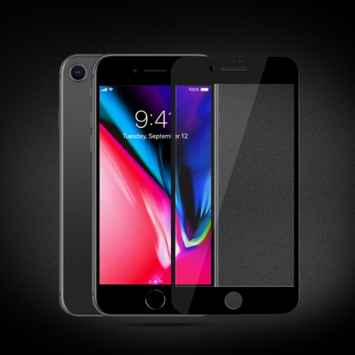 mocolo 0.33mm 9H 2.5D Silk Print Tempered Glass Film for iPhone 8 Plus & 7 Plus (Black)