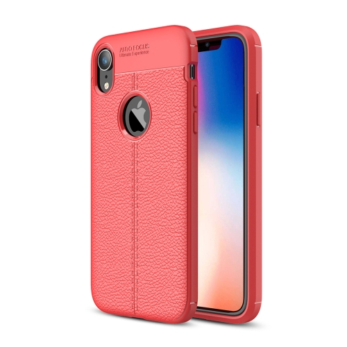 Litchi Texture TPU Case for iPhone X / XS(Red)