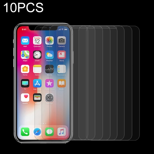 10 PCS 9H 2.5D Tempered Glass Film for iPhone XS / X
