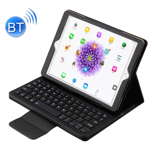 Buy For iPad Pro 9.7 inch / iPad 5 / iPad 6 / iPad 2017 ABS Separable Litchi Texture Horizontal Flip Leather Case + Bluetooth Keyboard with Holder, Black for $13.09 in SUNSKY store