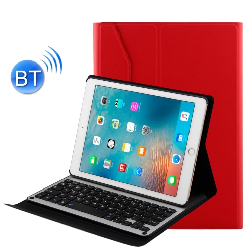 Buy For iPad Air 2 / iPad Air / Pro 9.7 inch / iPad 2017 Detachable Aluminum Alloy Bluetooth Keyboard + Lambskin Texture Leather Case with Holder, Red for $21.60 in SUNSKY store