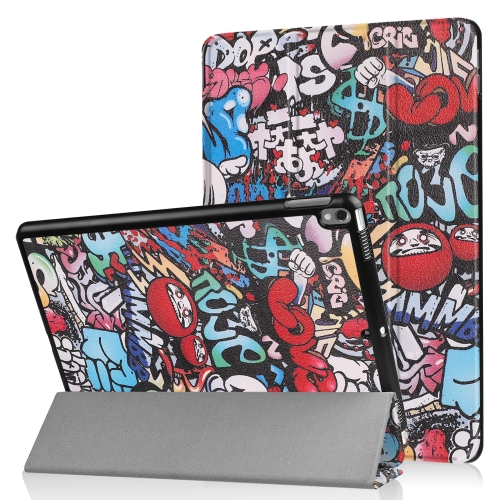 Coloured Drawing Pattern Horizontal Flip Leather Case for iPad Air 2019 10.5 inch, with Three-folding Holder & Sleep / Wake-up Function (Scrawl Pattern)