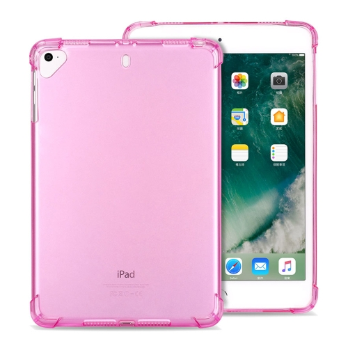 Highly Transparent TPU Full Thicken Corners Shockproof Protective Case for iPad mini 5 / 4 / 3 / 2 / 1 (Pink)