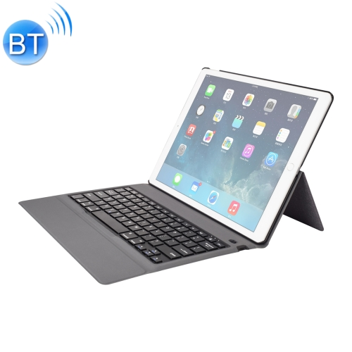 T129 For iPad Pro 12.9 inch (2017) / (2015) Ultra-thin One-piece Plastic Bluetooth Keyboard Leather Cover with Stand Function (Black)