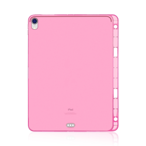 Highly Transparent TPU Soft Protective Case for iPad Pro 11 inch (2018), with Pen Slot (Pink)  - buy with discount