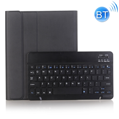 A102B For iPad 10.2 inch 2019 Ultra-thin Detachable Bluetooth Keyboard Leather Case with Stand & Pen Slot Function (Black) фото